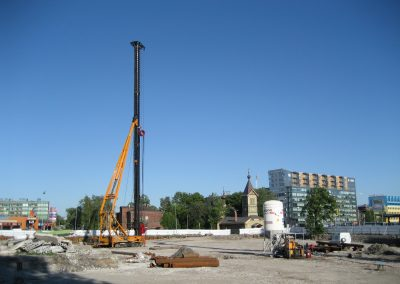 Piling works in Tallinn, Ahtri 3