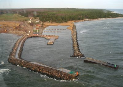 Reconstruction of Ringsu Harbour on Ruhnu island
